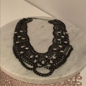 Baublebar Gunmetal Multichain Statement Necklace